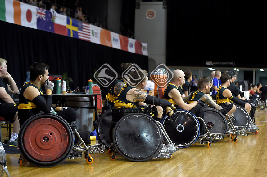 Australian Steelers vs Japan<br /> Australian Wheelchair Rugby Team<br /> 2018 IWRF WheelChair Rugby <br /> World Championship / Finals<br /> Sydney  NSW Australia<br /> Friday 10th August 2018<br /> © Sport the library / Jeff Crow / APC