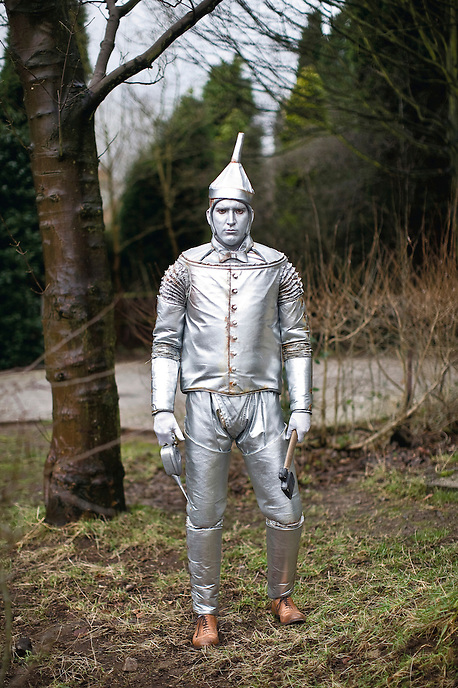 "Stephen (in the role of the Tin Man at the New Vic's production of the Wizard of Oz). ""From the outset, it's a little bit dull here [Stoke-on-Trent] but once you go round the potteries and you see all these amazing potteries and stuff, you realise it's got a lot going for it. It's not as hip and happening as London but that's the way the cookie crumbles."""