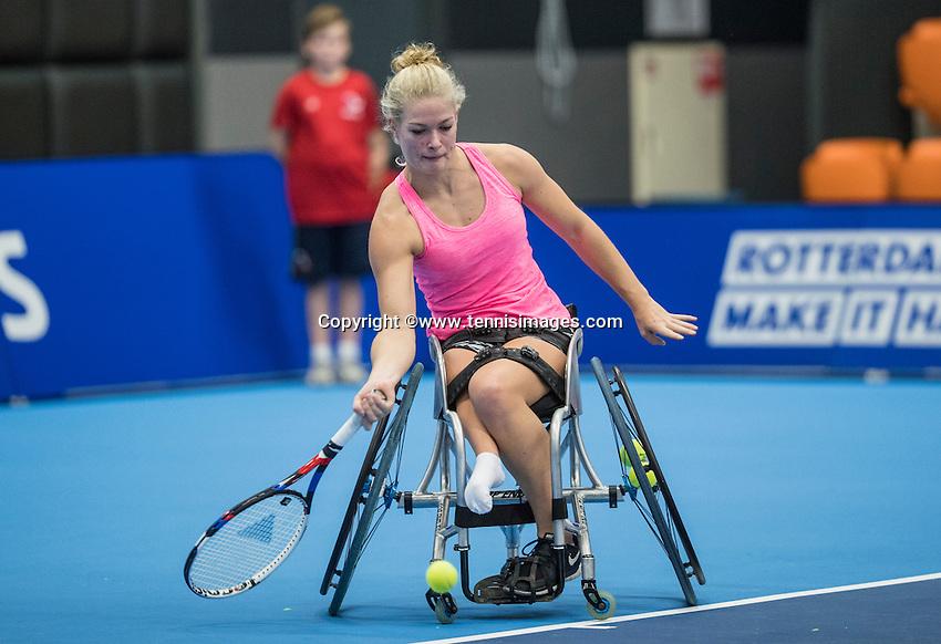 Rotterdam, Netherlands, December 16, 2016, Topsportcentrum, Lotto NK Tennis,  Wheelchair, Diede de Groot (NED)<br /> Photo: Tennisimages/Henk Koster