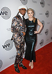 Nile Rodgers and Nancy Hunt arrive at the We Are Family Foundation 2018 celebration gala at the Hammerstein Ballroom in New York City, on April 27 2018.