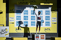 white Jersey / best young rider Egan Bernal (COL/Ineos Grenadier)<br /> <br /> Stage 7 from Millau to Lavaur 168km<br /> 107th Tour de France 2020 (2.UWT)<br /> (the 'postponed edition' held in september)<br /> ©kramon