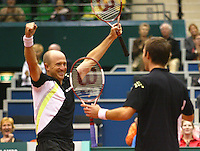 26-2-06, Netherlands, tennis, Rotterdam, Doubbles, the winners Hanley and Ullyett (l)
