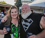 Lisa and Rob Henderson during the Epic Crawl held in downtown Reno on Saturday night, June 3, 2017.