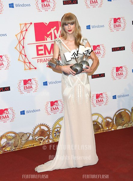 Taylor Swift in the press room for the The MTV EMA's 2012 held at Festhalle, Frankfurt, Germany. 11/11/2012 Picture by: Henry Harris / Featureflash