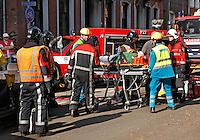 Open dag van de hulpdiensten in Brabant. In scene gezet ongeluk