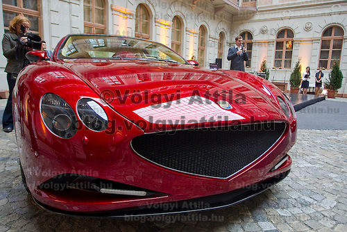 Press conference presenting the manually assembled Farralli & Mazzanti Vulca S luxury sports car to be produced in a limited series of ten pieces designed by Hungarian designer Zsolt Tarnok. Budapest, Hungary. Tuesday, 22. June 2010. ATTILA VOLGYI