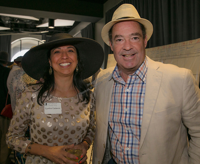 Cynthia Calderon and Judson Walsh during the Derby Day fundraiser for the Reno Chamber Orchestra at the Renaissance Reno on Saturday, May 4, 2019.