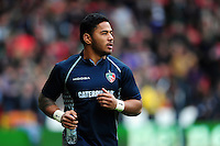 Manu Tuilagi of Leicester Tigers looks on during the pre-match warm-up. European Rugby Champions Cup semi final, between Leicester Tigers and Racing 92 on April 24, 2016 at The City Ground in Nottingham, England. Photo by: Patrick Khachfe / JMP