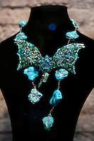 Marina Corazziari<br /> Roma 03-04-2016 Terme di Diocleziano. Mostra 'In Acqua: H2O molecole di creativita'. Decine di stilisti hanno creato, per l'occasione, abiti, accessori e gioielli che richiamano l'acqua.<br /> Diocleziano Thermae. Exhibition 'In water: H2O molecules of creativity'.Tens of famous stylists created dresses, accessories and jewels that recall water.<br /> Photo Samantha Zucchi Insidefoto