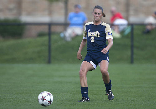September 01, 2013:  Notre Dame midfielder Mandy Laddish (#2) during NCAA Soccer match between the Notre Dame Fighting Irish and the UCLA Bruins at Alumni Stadium in South Bend, Indiana.  UCLA defeated Notre Dame 1-0.