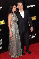 "NEW YORK, NY - FEBRUARY 04: Luciana Barroso, Matt Damon at the New York Premiere Of Columbia Pictures' ""The Monuments Men"" held at Ziegfeld Theater on February 4, 2014 in New York City, New York. (Photo by Jeffery Duran/Celebrity Monitor)"