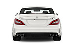 Straight rear view of 2017 Mercedes Benz CLS AMG-63-S 4 Door Sedan Rear View  stock images