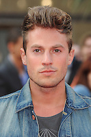 NON EXCLUSIVE PICTURE: PAUL TREADWAY / MATRIXPICTURES.CO.UK.PLEASE CREDIT ALL USES..WORLD RIGHTS..Adam Pitts of British pop group Lawson attending the European premiere of The Hangover Part 3, at the Empire Cinema in Leicester Square, London...MAY 22nd 2013..REF: PTY 133458
