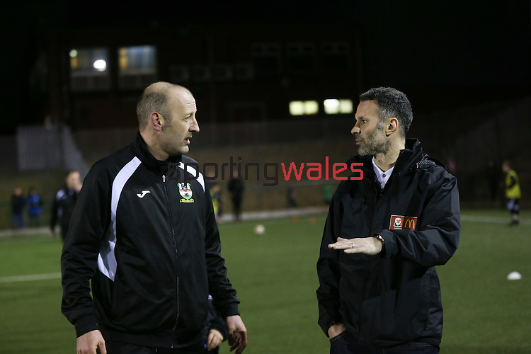 McDonalds Football<br /> Ryan Giggs visiting Risca Football Club training session.<br /> 06.03.15<br /> ©Steve Pope - SPORTINGWALES
