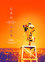 Cannes Film Festival poster 2019<br /> The official poster of the 72nd Cannes International Film Festival<br /> The poster is taken from August 1954 during the shoot of &ldquo;La Pointe Courte&rdquo; which shows Varda looking into a camera as she stands on the back of a technician in S&egrave;te, France. It was Varda&rsquo;s debut film and starred Silvia Monfort and Philippe Noiret. At the time of production, the film was a low-budget feature costing an estimated $14,000. The following year, it was screened in Antibes and in 1956 it had its Paris premiere at Studio Parnasse. <br /> *Editorial Use Only*<br /> CAP/PLF<br /> Image supplied by Capital Pictures