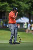 Jon Rahm (ESP) reacts to barely missing his putt on 12 during round 3 of the WGC FedEx St. Jude Invitational, TPC Southwind, Memphis, Tennessee, USA. 7/27/2019.<br /> Picture Ken Murray / Golffile.ie<br /> <br /> All photo usage must carry mandatory copyright credit (© Golffile | Ken Murray)