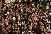 Fans on the embankment. New Zealand Blackcaps v England. One Day International Cricket. Seddon Park, Hamilton, New Zealand on Sunday 25 February 2018.<br /> <br /> Copyright photo: &copy; Bruce Lim / www.photosport.nz