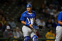 Rancho Cucamonga Quakes catcher Steve Berman (29) during a California League game against the Stockton Ports at Banner Island Ballpark on May 16, 2018 in Stockton, California. Rancho Cucamonga defeated Stockton 6-3. (Zachary Lucy/Four Seam Images)