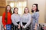 Ready for the stage at the Presentation Secondary School Convent Christmas play, l-r, Sarah Cleary, Michela Murphy, Tara Murphy and Clodagh Deenan O'Loughlin.