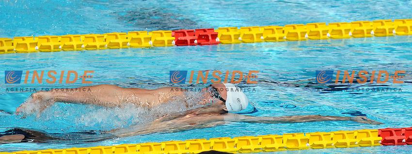 Olivier Lacourt France.100m Backstroke Men.Roma 15/6/2012 Foro Italico.Nuoto Swimming 49mo trofeo settecolli.Foto Antonietta Baldassarre Insidefoto