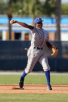 Indian River State College shortstop K'Shawn Smith (1) during a game vs. the State College of Florida Manatees at Robert C. Wynn Field in Bradenton, Florida;  February 22, 2011.  SCF defeated Indian River 3-0.  Photo By Mike Janes/Four Seam Images