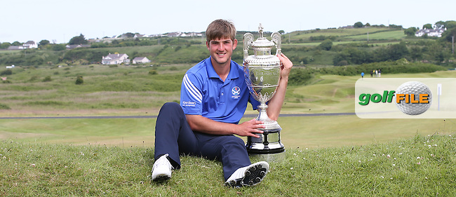 BRADLEY NEIL (Blairgowrie, Perthshire, Scotland) with the trophy of The Amateur Championship 2014 from Royal Portrush Golf Club, Portrush, Northern Ireland. Picture:  David Lloyd / www.golffile.ie