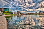 Waterfront at Riverscape Downtown Dayton Ohio. HDR