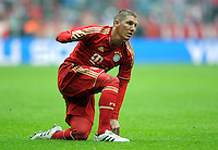 FUSSBALL   1. BUNDESLIGA  SAISON 2011/2012   29. Spieltag FC Bayern Muenchen - FC Augsburg       07.04.2012 Bastian Schweinsteiger (FC Bayern Muenchen)