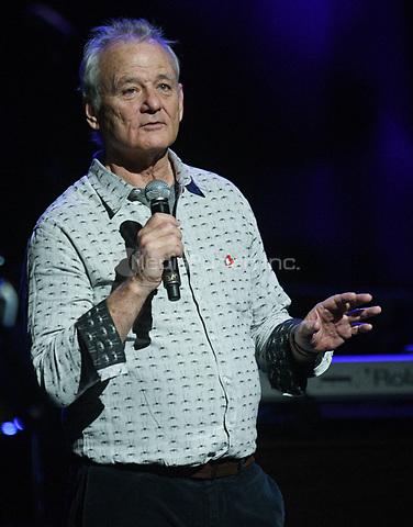 NEW YORK, NY - March 9 : Bill Murray Performs on stage at 'Love Rocks NYC! A Change is Gonna Come: Celebrating Songs of Peace, Love and Hope' A Benefit Concert for God's Love We Deliver at Beacon Theatre on March 9, 2017 in New York City. @John Palmer / Media Punch