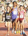 The Gazette. Sherwood High School's (number 1) Soloman Haile leads the pack in the High School Boys' 3000 meter Championship of America during the Penn Relays on Thursday evening in Philadelphia. Haile finished the race 4th with a time of 8 minutes 29.29 seconds.