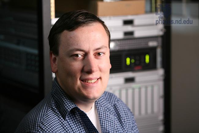 Engineering professor Scott Emrich