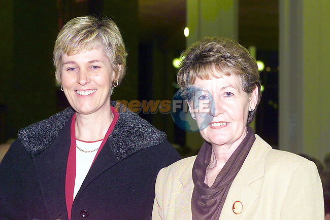 June Neary and Pauline McMahon at the national chamber choir perfornmance in Ardee..Picture Fran Caffrey Newsfile.