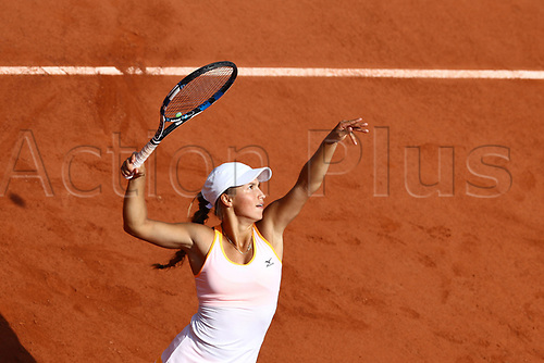 2nd June 2017, Roland Garros, Paris, France;   YULIA PUTINTSEVA (KAZ)  during day six match of the 2017 French Open on June 2, 2017, at Stade Roland-Garros in Paris, France.