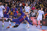 VELUX EHF 2017/18 EHF Men's Champions League Group Phase - Round 11.<br /> FC Barcelona Lassa vs HC Vardar: 29-28.<br /> Kamil Syprzak.