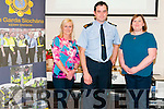 Safer Community : Pictured at the Garda Information Event Supporting Safer Community at the Listowel Family Resource Centre on Friday evening last were Sylvia Hughes, Garda Frank Stafford, Listowel division & Jackie Landers.