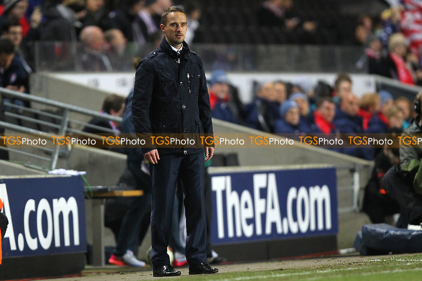 England manager Mark Sampson - England Women vs USA Women - International Football Friendly Match at Stadium MK, Milton Keynes Dons FC - 13/02/15 - MANDATORY CREDIT: Gavin Ellis/TGSPHOTO - Self billing applies where appropriate - contact@tgsphoto.co.uk - NO UNPAID USE