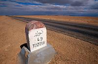 Straße nach Tozeur, Schott el Djerid, Tunesien