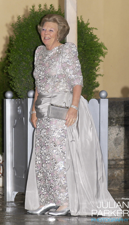 Queen Beatrix of Holland attends a Gala Dinner at the El Pardo Royal Palace in Madrid..Picture: UK Press