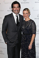 LOS ANGELES, CA - JANUARY 11: Carter Oosterhouse, Amy Smart at The Art of Elysium's 7th Annual Heaven Gala held at Skirball Cultural Center on January 11, 2014 in Los Angeles, California. (Photo by Xavier Collin/Celebrity Monitor)