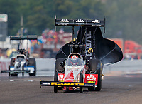 Aug 20, 2017; Brainerd, MN, USA; NHRA top fuel driver Doug Kalitta during the Lucas Oil Nationals at Brainerd International Raceway. Mandatory Credit: Mark J. Rebilas-USA TODAY Sports
