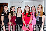 Niamh O'Sullivan, Katie Talbot, Natasha O'Sullivan, Fay O'Donoghue, Hannah O'Donoghue, Amy Moriarty at the Fossa GAA social in the Killarney Avenue Hotel on Friday night