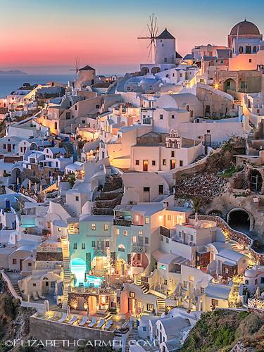 Santorini Lights