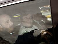 Walter Lavitola al suo arrivo nel carcere di poggioreale ad Aprile 2012
