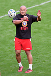 ENG - Newcastle upon Tyne, England, October 08: During the Captains Run of Tonga on October 8, 2015 at St. James Park in Newcastle upon Tyne, England. (Photo by Dirk Markgraf / www.265-images.com) *** Local caption ***