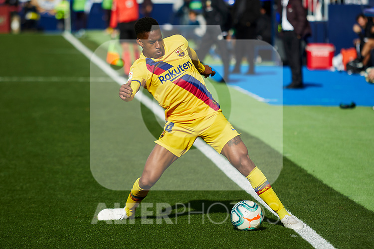 Junior Firpo of FC Barcelona during La Liga match between CD Leganes and FC Barcelona at Butarque Stadium in Leganes, Spain. November 23, 2019. (ALTERPHOTOS/A. Perez Meca)