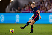 5th March 2020, Orlando, Florida, USA;  the United States defender Abby Dahlkemper (7) plays the ball during the SheBelieves Cup match between England and the USA on March 5, 2020, at Exploria Stadium in Orlando FL.