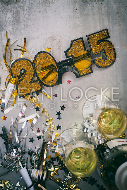 Fun, styled backgrounds for New Year's Eve designs.