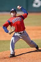 David McKolosky #24 of the Shippensburg Red Raiders in action versus the Catawba Indians on February 14, 2010 in Salisbury, North Carolina.  Photo by Brian Westerholt / Four Seam Images
