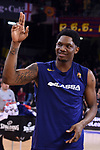 Turkish Airlines Euroleague 2018/2019. <br /> Regular Season-Round 18.<br /> FC Barcelona Lassa vs Panathinaikos Opap Athens: 79-68.<br /> Kevin Seraphin.