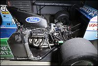 BNPS.co.uk (01202 558833)<br /> Pic: Bonhams/BNPS<br /> <br /> ***Please use full byline***<br /> <br /> Ford Zetec 3.5 litre 740 bhp engine.<br /> <br /> One of the most historic F1 cars of all time is coming up for auction - with a glorious but poignant heritage.<br /> <br /> Its the Benetton F1 car which helped rising star Michael Schumacher win his first world championship in 1994.<br /> <br /> The German driver won four Grand Prix in this 1994 Benetton Cosworth Ford B194, including the famous Monaco race.<br /> <br /> But despite the historic car's successful history, it is linked to one of the darkest moments in motor racing history.<br /> <br /> Schumacher was driving this car immediately behind rival Ayrton Senna when the Brazilian driver was killed in a horrific 190mph crash at the Imola circuit in the 1994 San Marina GP.<br /> <br /> Schumacher climbed out of the vehicle moments after the accident and went on to win the race when it controversially restarted.<br /> <br /> The 200mph car is in perfect working order although you will need a F1 circuit to run the 3.5 litre 740bhp monster.<br /> <br /> Bonhams are selling the historic motor with a pre-sale estimate of &pound;600,000.